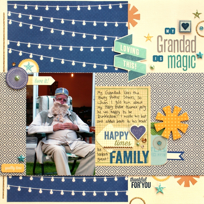 My Grandad Is Magic layout by Jennifer Grace