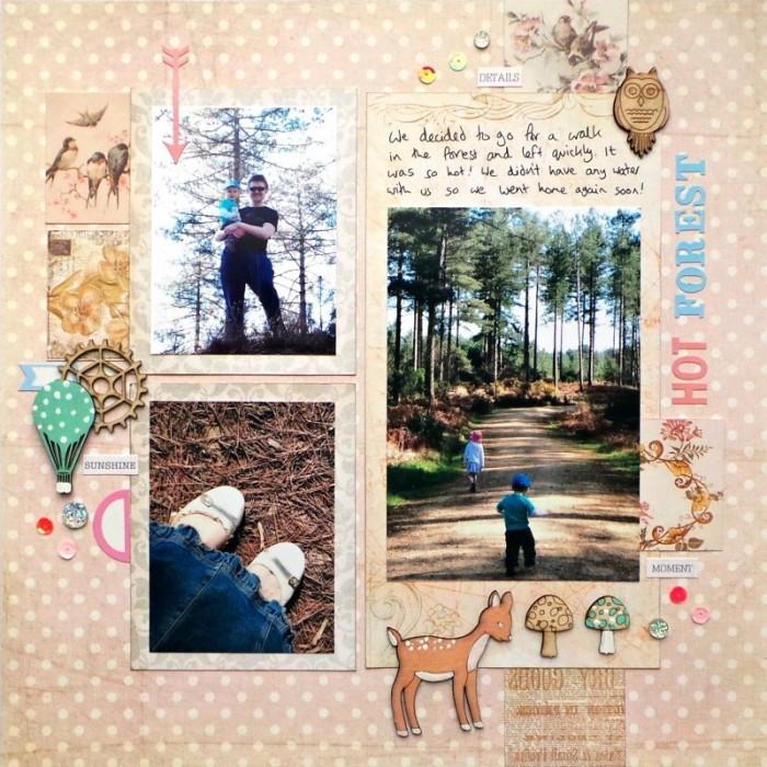 Hot Forest layout by Jennifer Grace