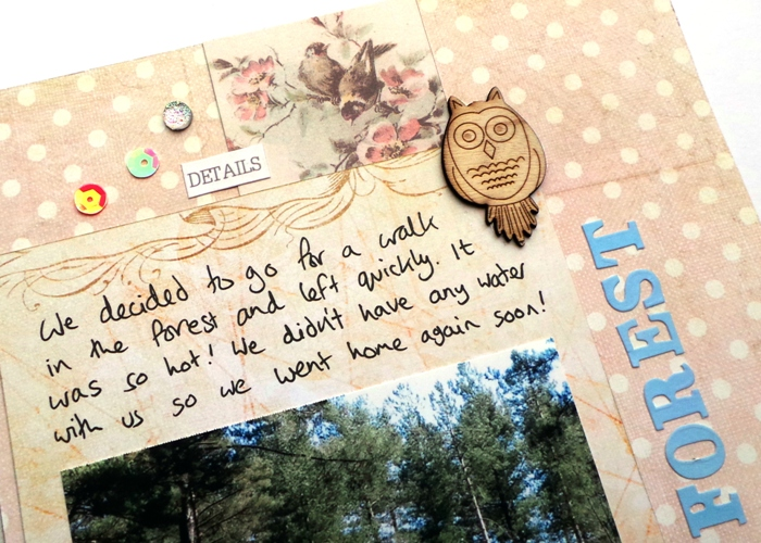 Hot Forest layout by Jennifer Grace