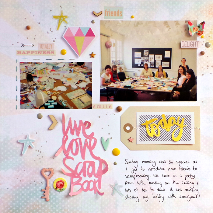 Live Love Scrapbook by Jennifer Grace using Heidi Swapp Dreamy