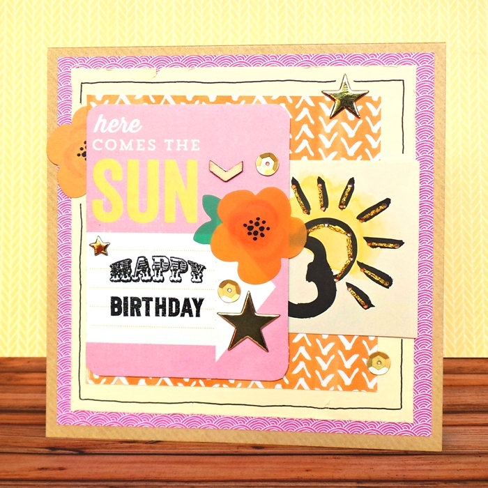 Here Comes The Sun card by Jennifer Grace