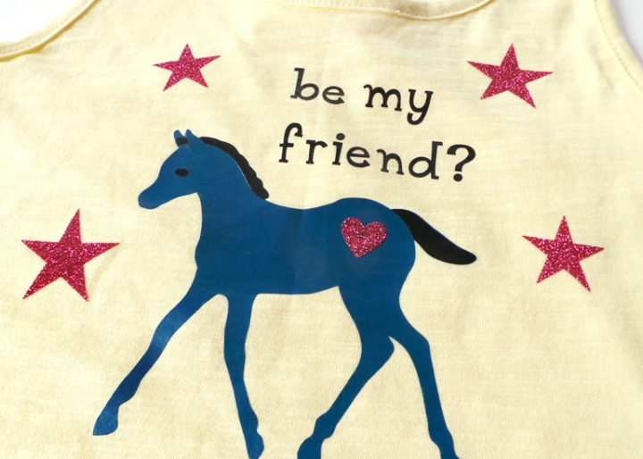 Cute Pony Vest by Jennifer Grace using the Cricut Explore