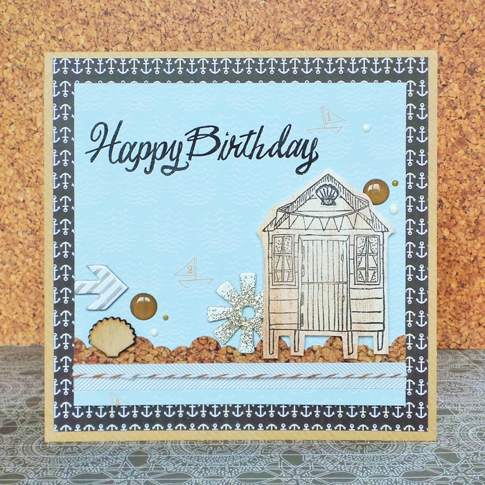 Beach Hut Card by Jennifer Grace
