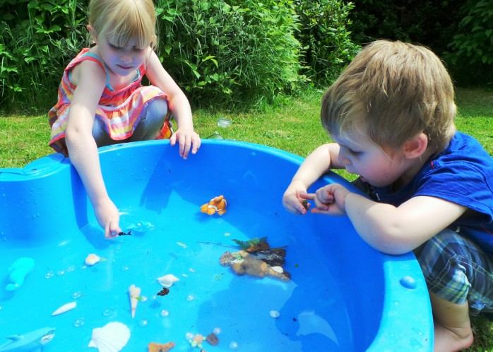 Water Play Treasure Hunt Kids Activity at Jennifer Grace Creates