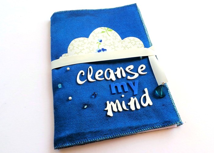 Cleanse My Mind Notebook Tutorial by Jennifer Grace