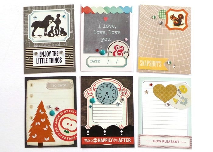 From Old Stash To New Pocket Cards by Jennifer Grace