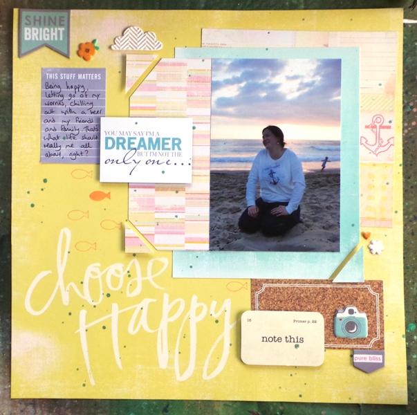 Choose Happy layout by Jennifer Grace