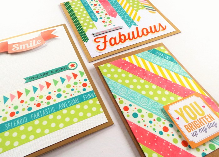 Washi and Words Cards by Jennifer Grace
