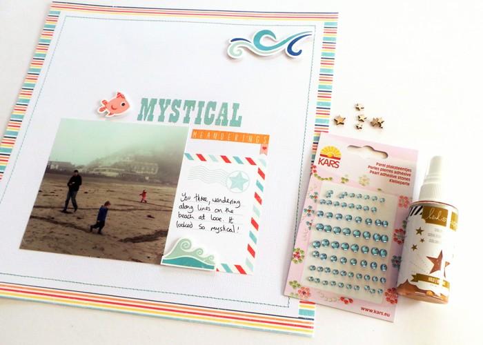Mystical Meanderings Layout by Jennifer Grace