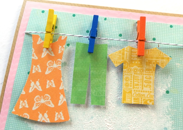 Breezy Washing Line Card by Jennifer Grace