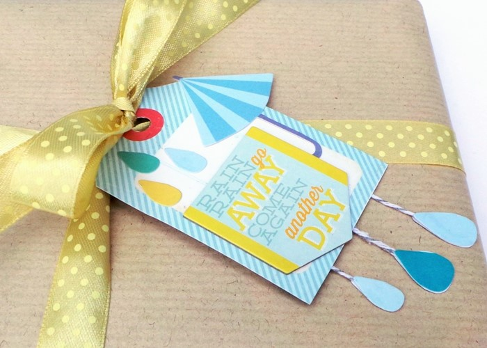 Tiny Raindrops Gift Tag by Jennifer Grace