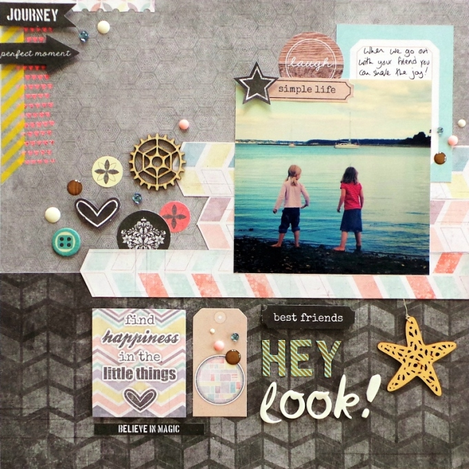 Hey Look by Jennifer Grace for Scrap 365 July 2014 Sketch using 7 Dots Studio Illumination