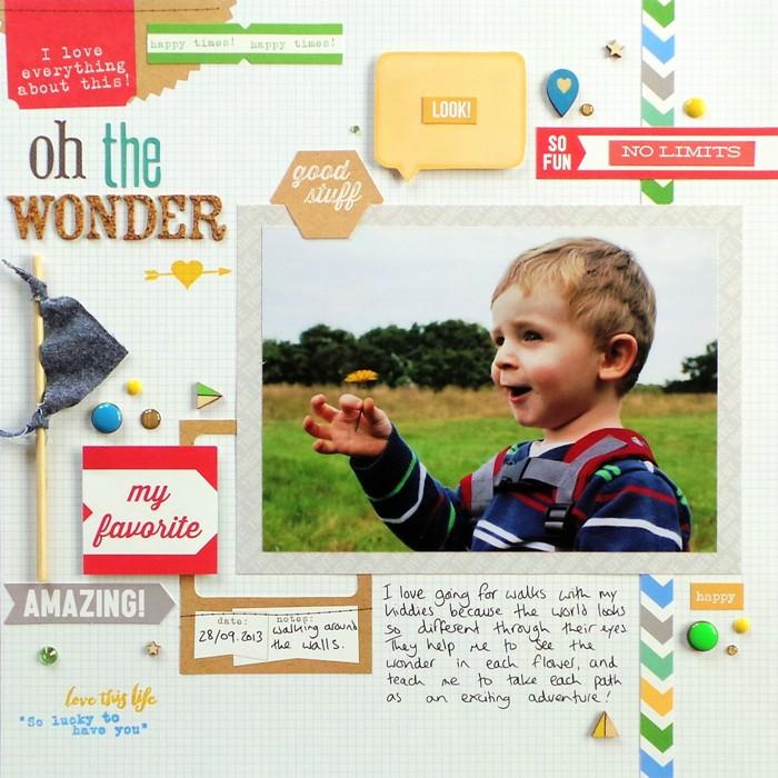 Oh The Wonder layout by Jennifer Grace