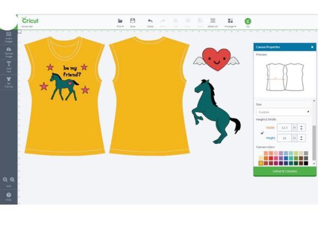 Cute Pony Vest in the Explore Design Space