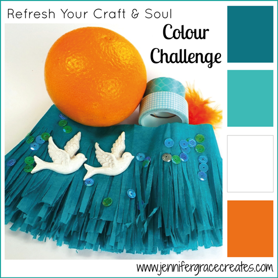 Teal & Orange Colour Challenge at Jennifer Grace Creates