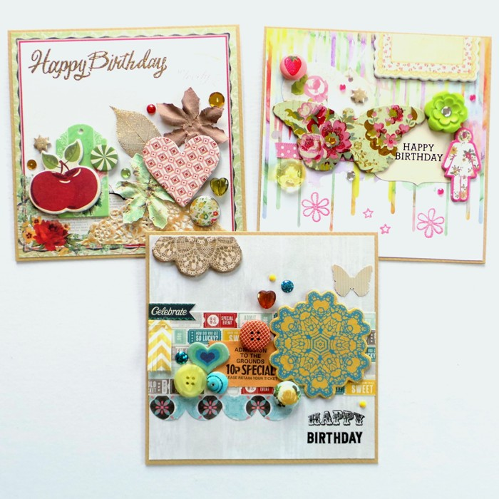 Bits & Pieces Birthday Cards by Jennifer Grace