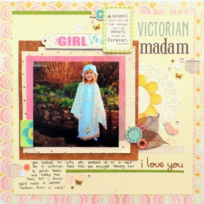 Victorian Madam by Jennifer Grace for Scrap 365 August 2014 Sketch Challenge