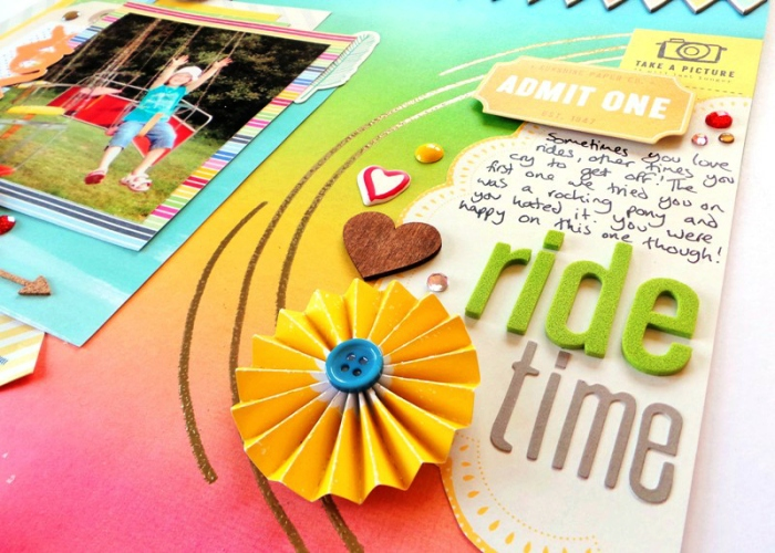 Ride Time by Jennifer Grace - September Sketch for Scrap365