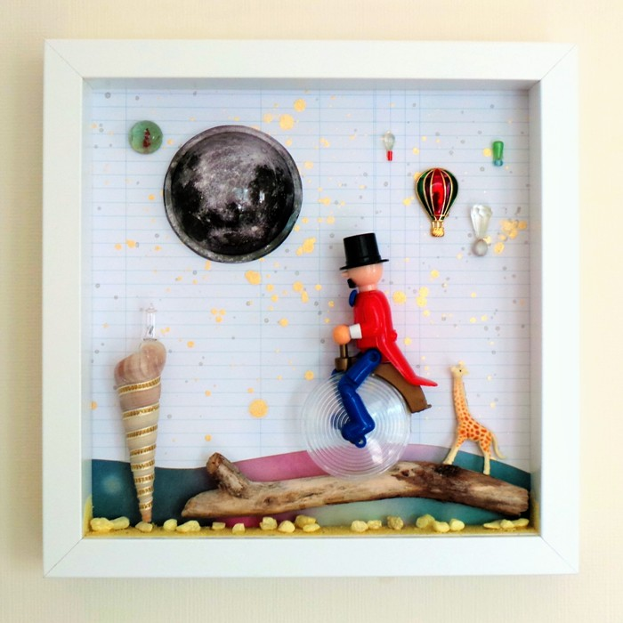Box Frame Art - Weird and Wonderful by Jennifer Grace