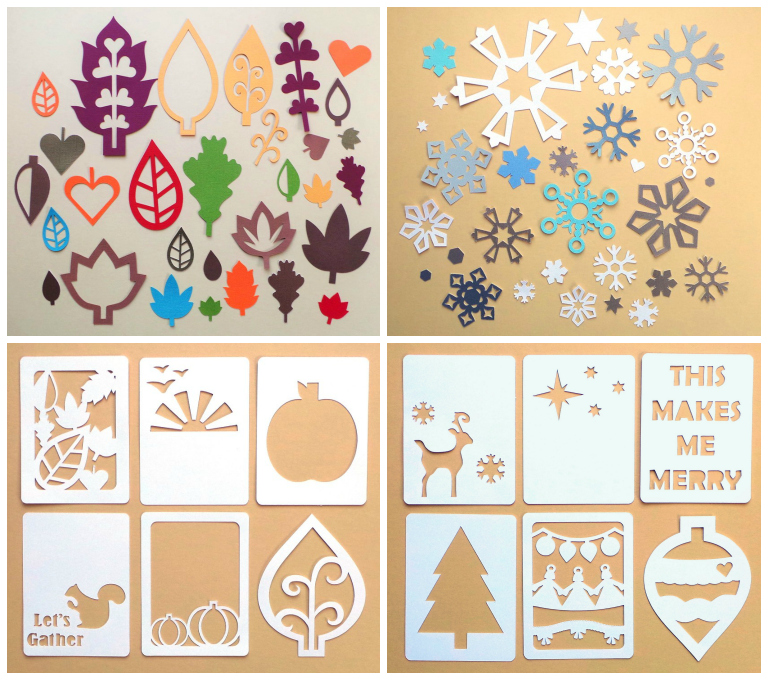 September 2014 New Die Cut Card Shapes at Happy Scatter