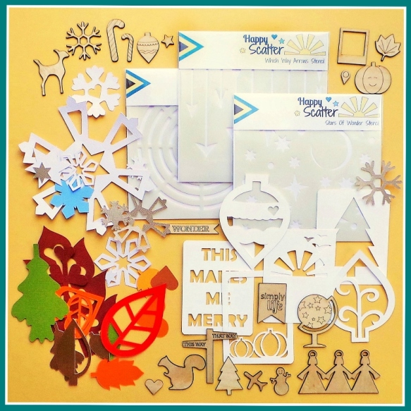 Happy Scatter Giveaway at the Scrap365 Blog