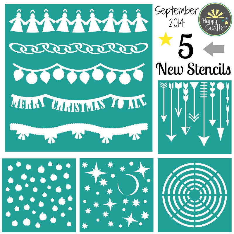 September 2014 New Stencils at Happy Scatter