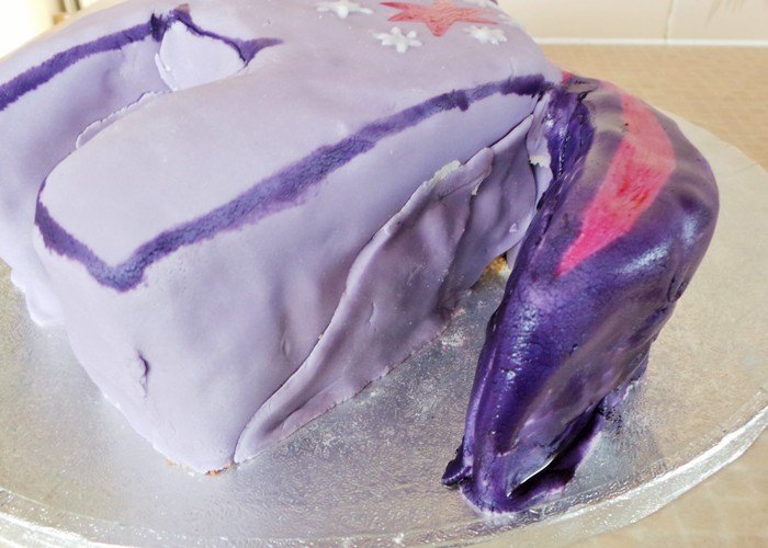 Twilight Sparkle Birthday Cake at Jennifer Grace Creates