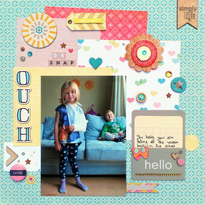 Ouch layout by Jennifer Grace