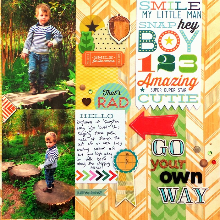 Go Your Own Way layout by Jennifer Grace