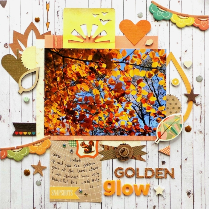 Golden Glow layout by Jennifer Grace for Scrap365
