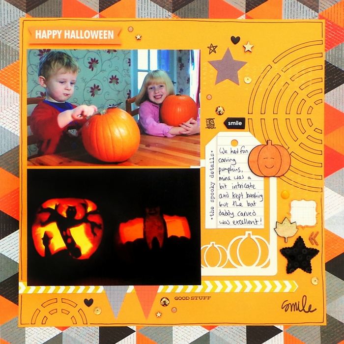 The Spooky Details layout by Jennifer Grace using Happy Scatter
