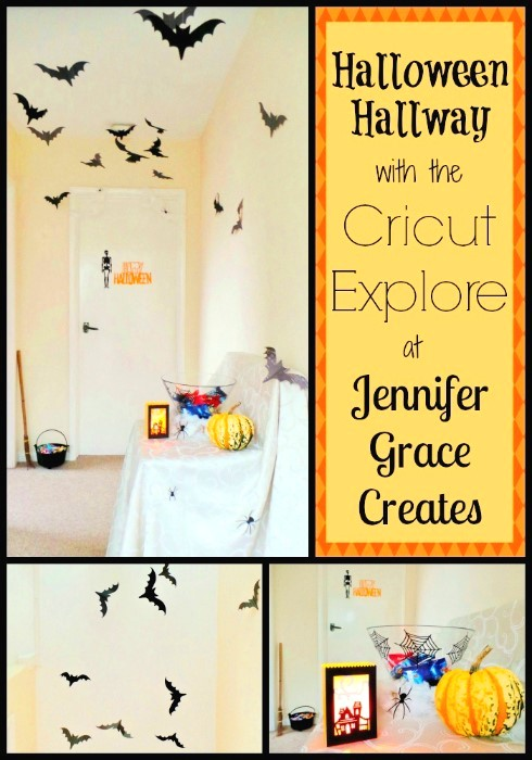 Halloween Hallway with the Cricut Explore by Jennifer Grace