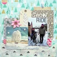Snow Ride - A Winter Layout by Jennifer Grace Creates