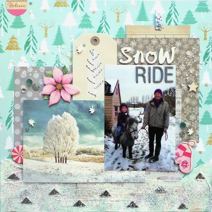 Snow Ride - A Winter Layout by Jennifer Grace Creates
