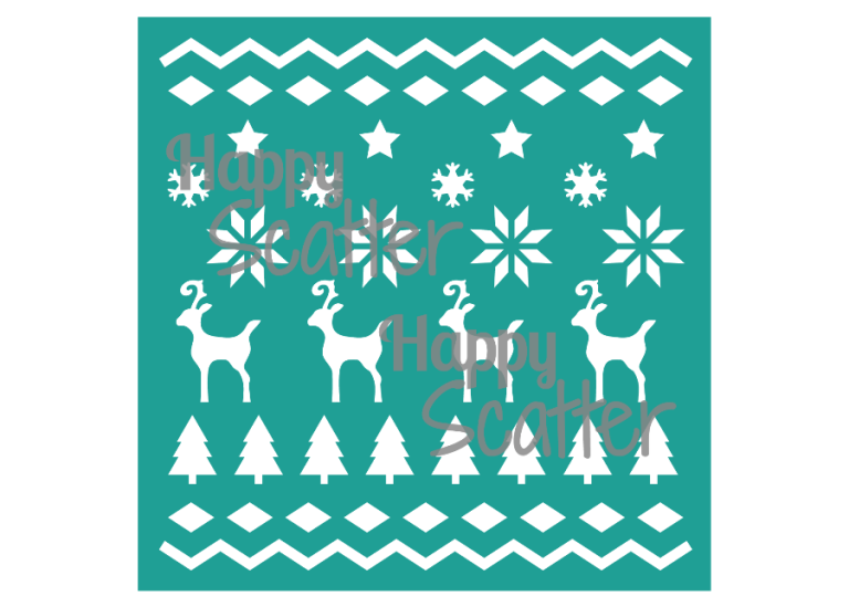 Nordic Deer Pattern Stencil at Happy Scatter