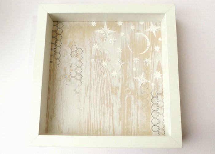 White Winter Scene Box Frame at Jennifer Grace Creates