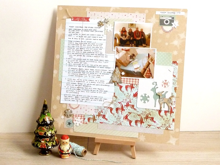 Fake Christmas Layout by Julie Kirk