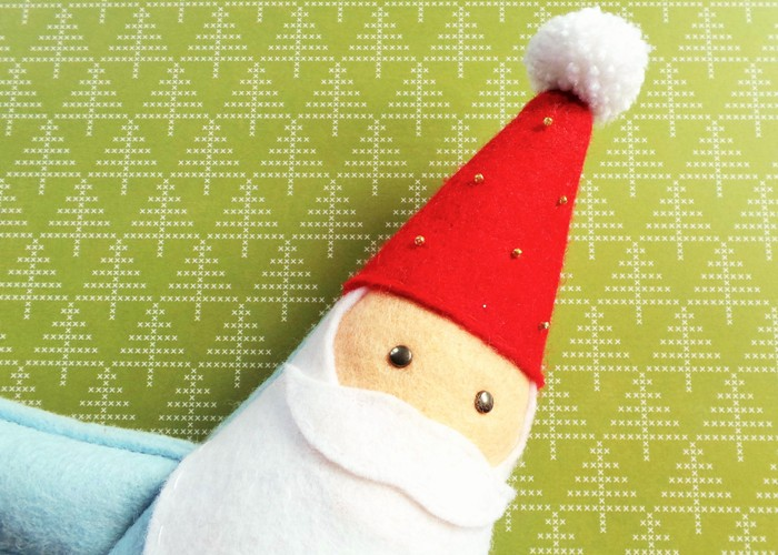 Charming Felt Santa / Gnome Doorstop (Or Toy!) by Jennifer Grace Creates