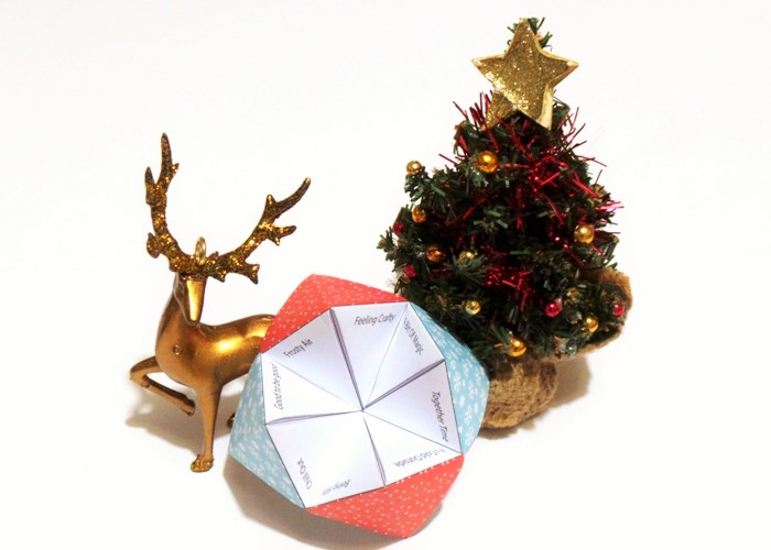 Christmas Activities Paper Fortune Teller at Jennifer Grace Creates