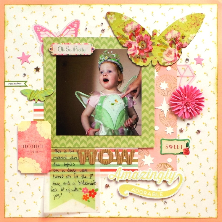 Wow Amazingly Adorable Layout by Jennifer Grace