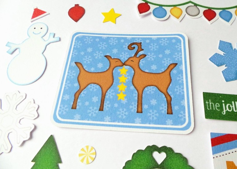 The Jolliest Time Ephemera Card Shapes at Happy Scatter