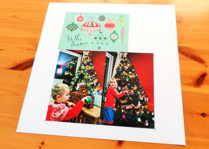Giant Aperture Christmas Layout at Jennifer Grace Creates