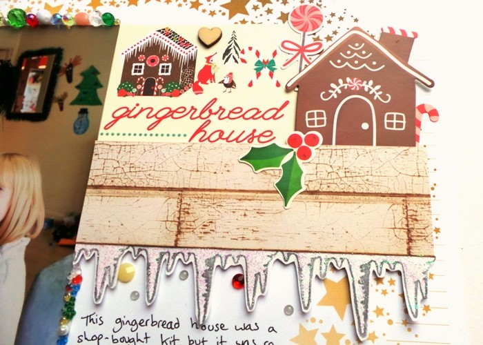 Gingerbread House Candied Layout by Jennifer Grace Creates