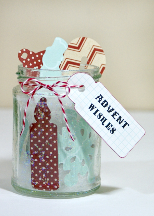 Advent Wishes Jar by Jennifer Grace