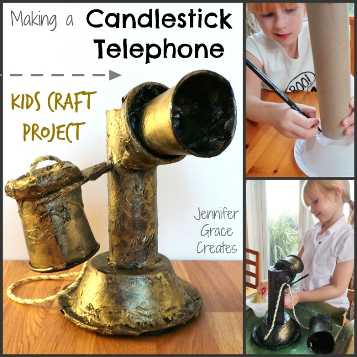 School Homework Kids Craft - Making A Candlestick Telephone at Jennifer Grace Creates