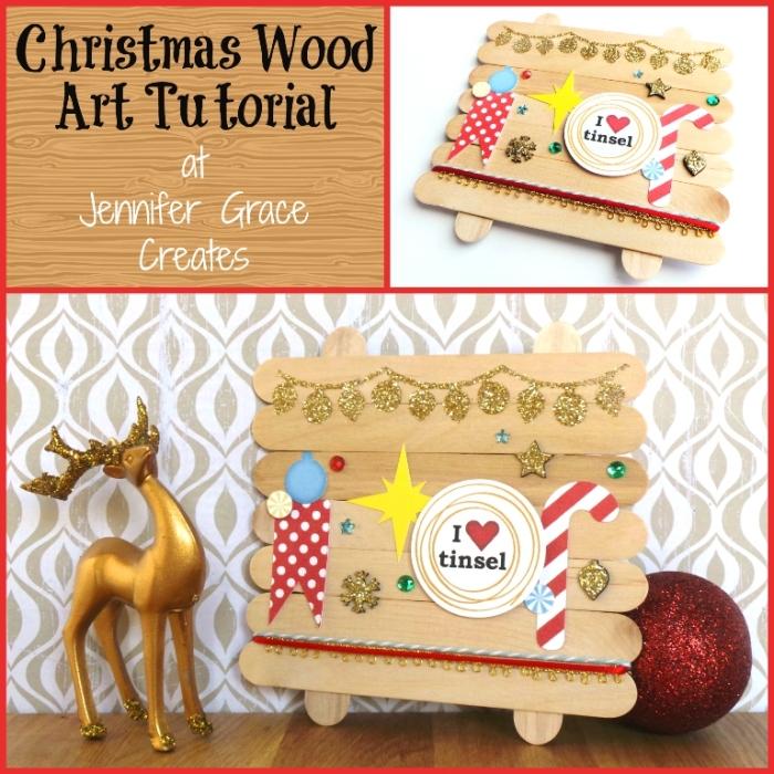 Christmas Wood Art Tutorial at Jennifer Grace Creates
