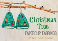 Christmas Tree Paperclip Earrings at Jennifer Grace Creates