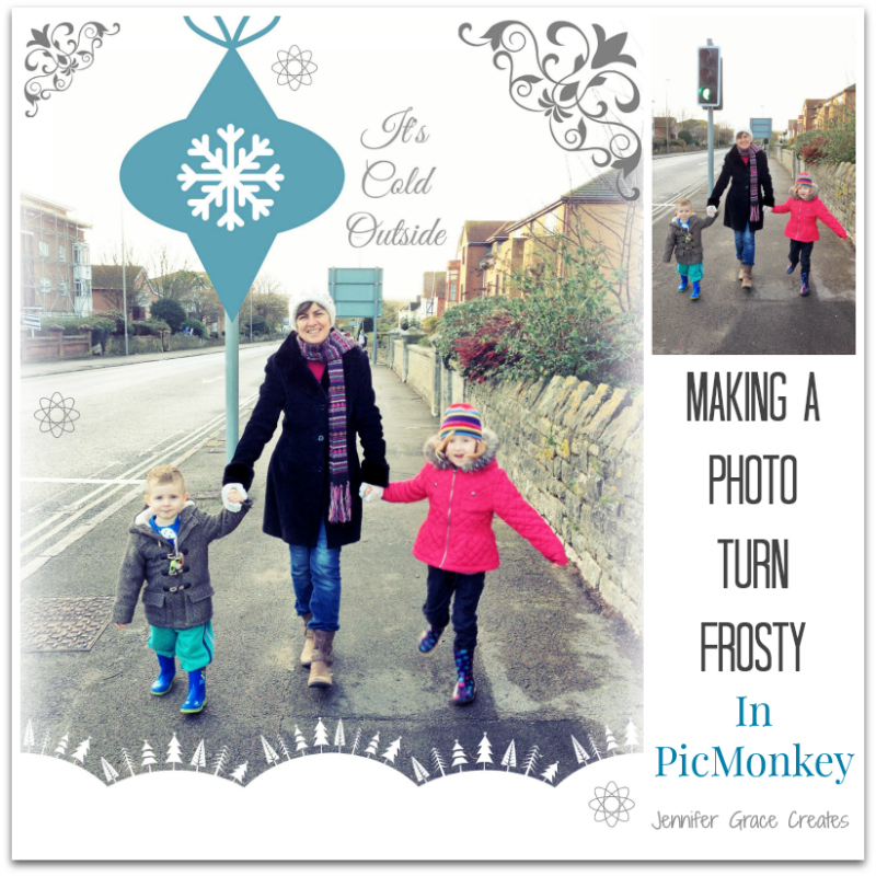 Making A Photo Turn Frosty In PicMonkey at Jennifer Grace Creates