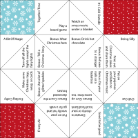 Christmas Activities Paper Fortune Teller at Jennifer Grace Creates