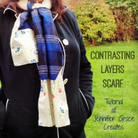 Contrasting Layers Scarf Tutorial at Jennifer Grace Creates